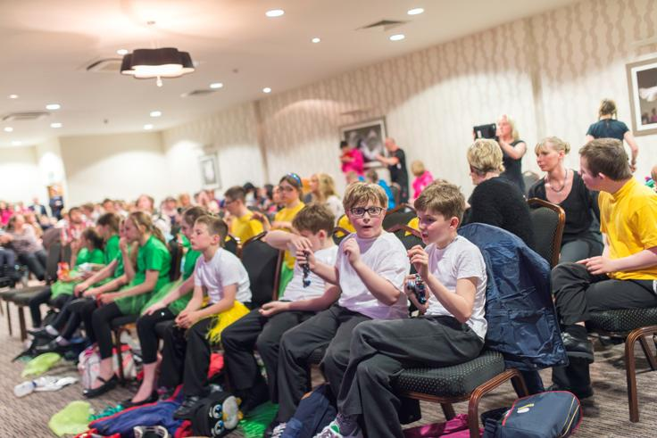 SPECIAL SCHOOLS' MUSIC FESTIVAL 2014 - Performers waiting to perform.