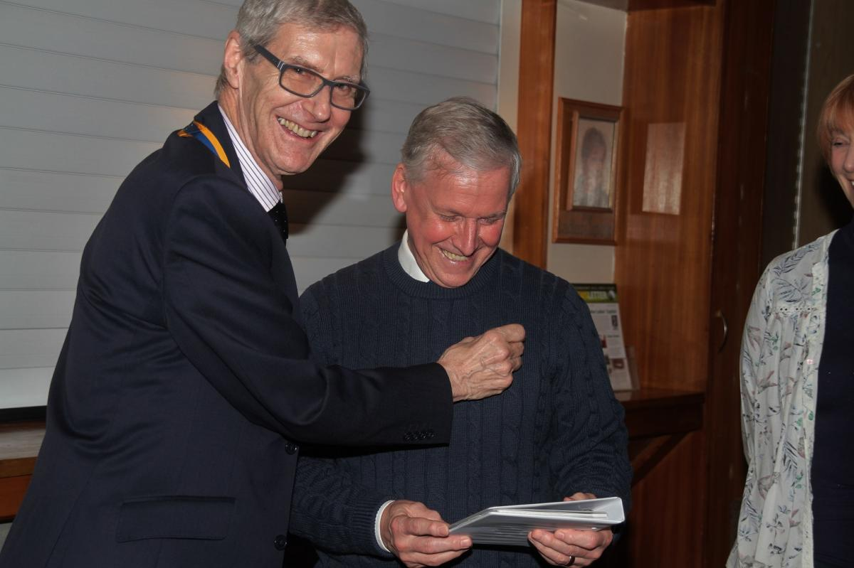 New TuT Rotary Members - Peter Canning was inducted into the Club at our meeting on 31st January. Peter spent 19 years in the Middle East as a Senior Mechanical Engineer and 10 years on North Sea Oil rigs