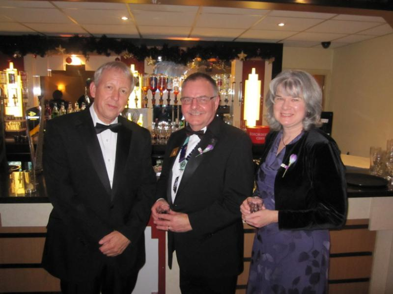 BLACKPOOL SOUTH ROTARY CLUB 2013  CHARTER DINNER.  - Peter Westhorpe, Kevin & Wendy.
