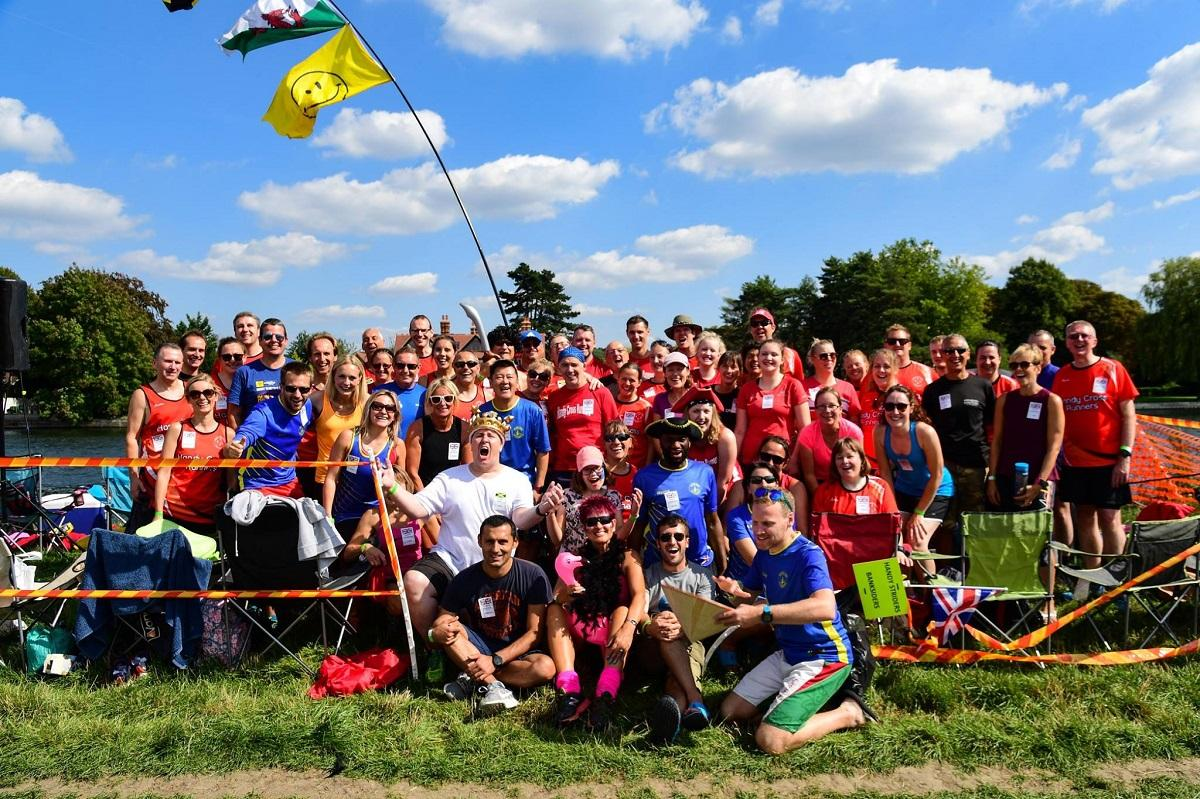 Cookham Regatta 2018:  - Handy Cross runners and Marlow Striders celebrate