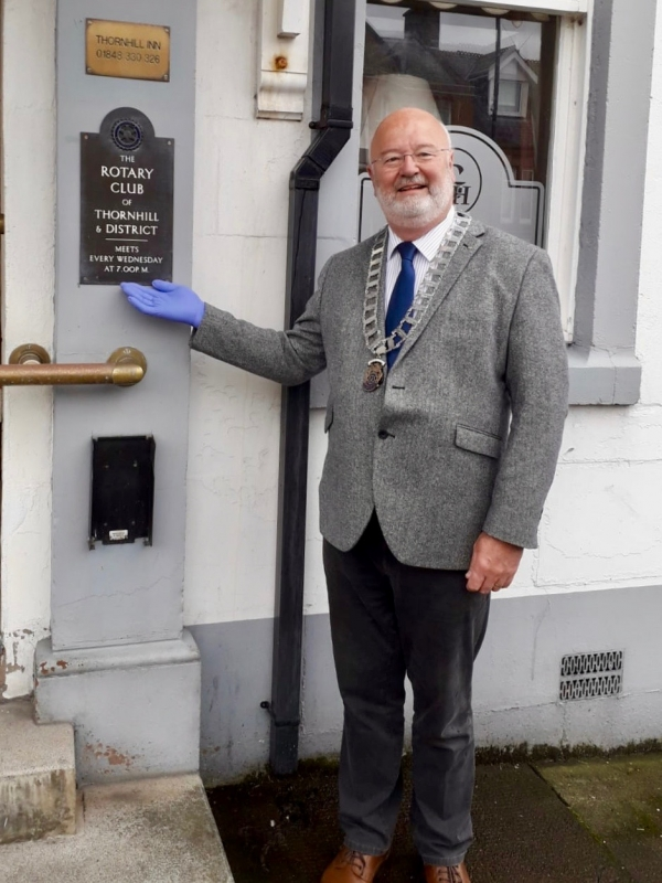 Rotarian Keith Shedden takes over as Club President 2020-2021 - Pic 4, President Keith Shedden offering a warm welcome, when things get back to normal