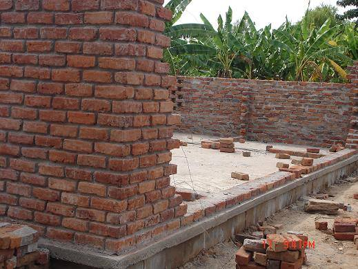 Our Malawi Grain Mill and Store - Mill walls start to appear