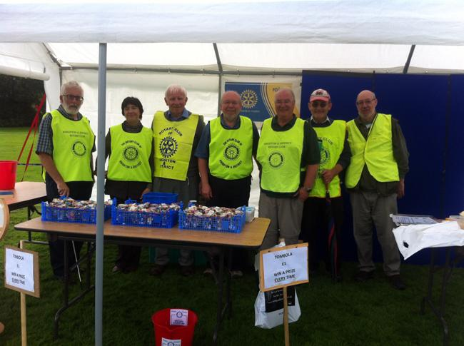 Knighton Show Rotary awareness stall  - Brian, Dorothy,Adam, Norman, Paul, David and show steward.....