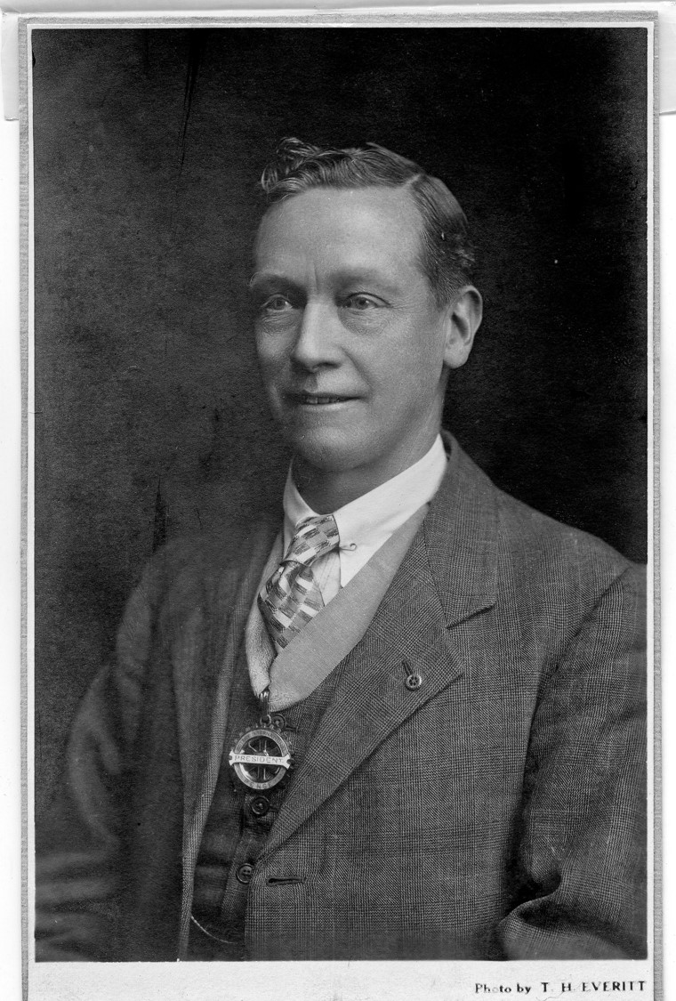 History of Penge Rotary Club - Arthur J. Marsh, Manager of Barclays Bank, Penge, and Founder President of Penge Rotary Club