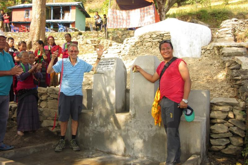 Nepal Water 2013/14 - Taps and new tank in background
