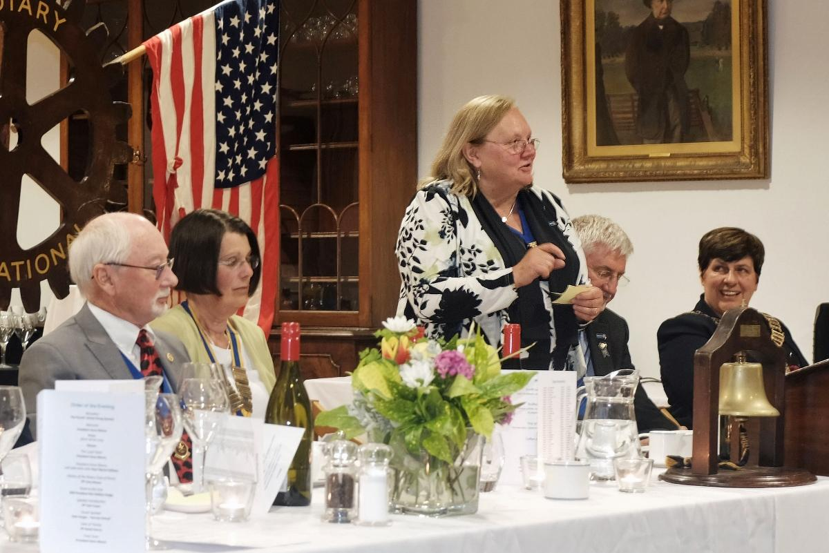 75th Anniversary Celebration - RIBI President Debbie toasts the Club