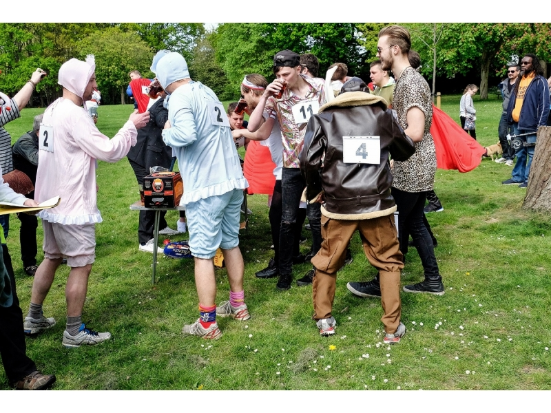 2017 St George's Day Photo Gallery - First beer consumption at the start on Little Common