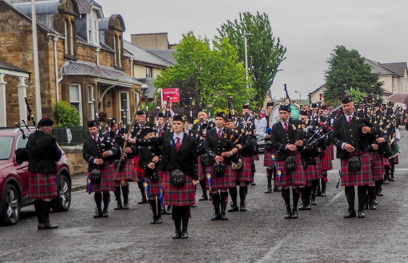 Penicuik in the Park on 25th May 2019 - Pipe Band 3