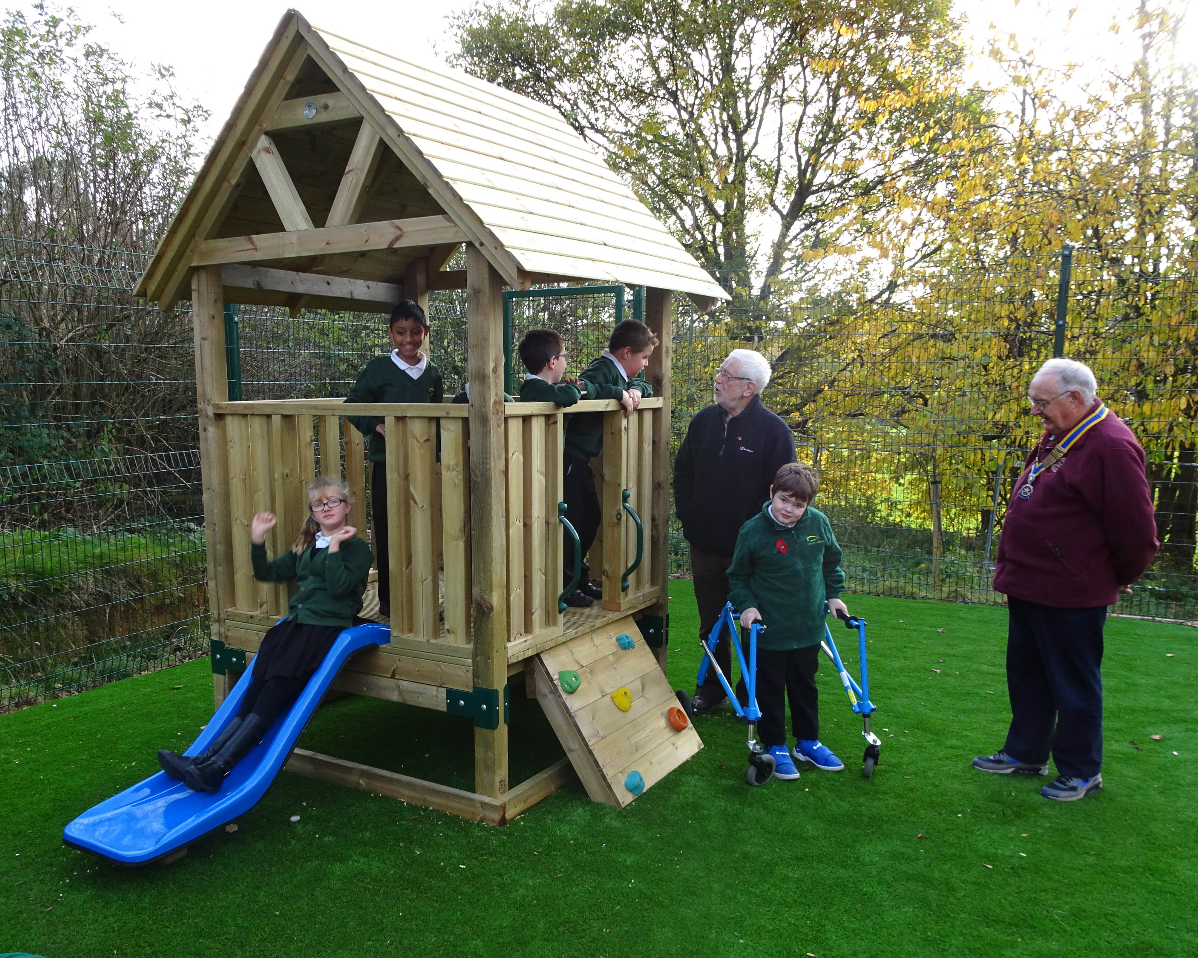 Climbing Frame for Daventry Hill School - Play and Chat