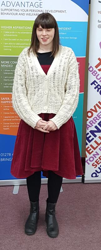 Cancelled Pride of Somerset Youth Awards 2020 - Despite visual impairment, Eve has gained confidence and recently ran her first Marathon