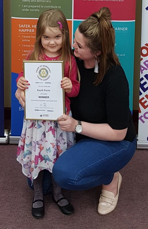 Cancelled Pride of Somerset Youth Awards 2020 - At 4 years Kadi saved her Mum's life when she dialled 999 to get help