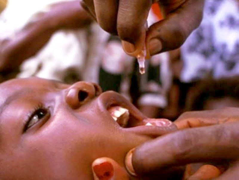 Rotary campaign to eradicate Polio - we are this close. - 2 drops is all you need