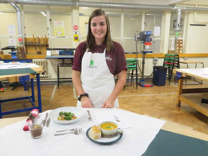 Young Chef Competition - 1st round - with her runner's-up meal
