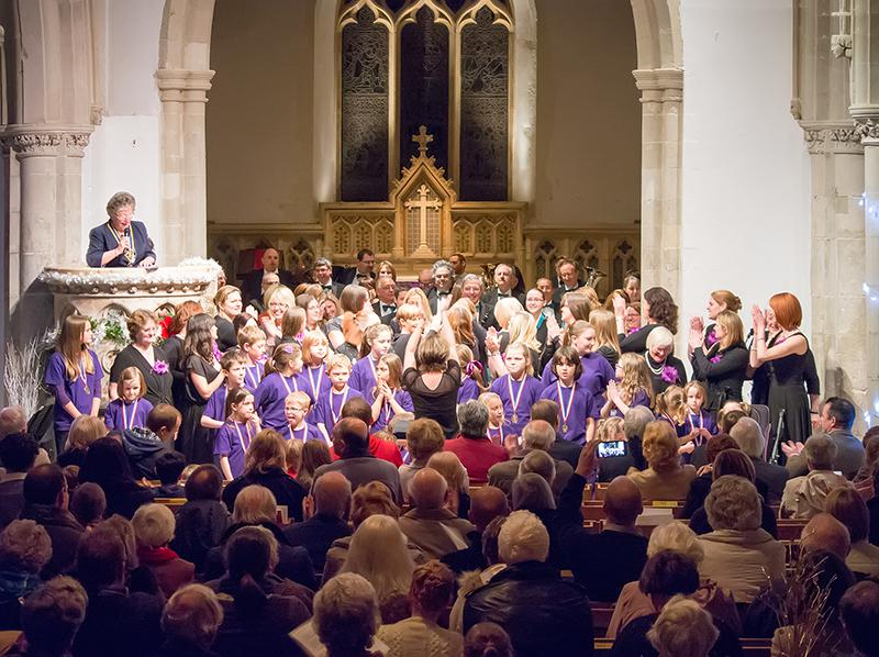 Let The Chilterns Sing -2013 Winter Wonderland Family Concert - Pres.Sandra giving 'thanks'
