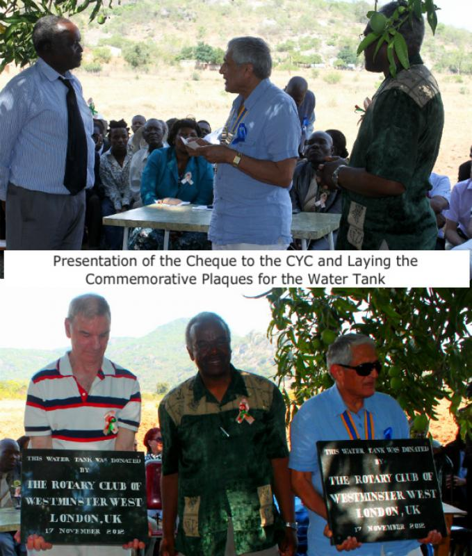 The Chikuku Youth Centre Project -  Zimbabwe - £5,000 was donated to the CYC during this visit.
