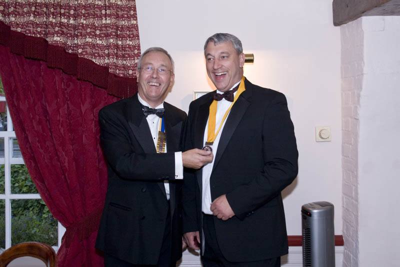Rotary Presidential Handover 2008 - Don't worry Clive, being Vice is an absolute doddly.