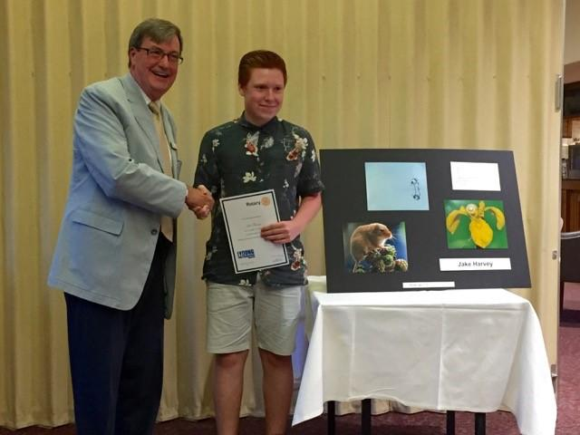 Young Photographer - Jake Harvey receives his RGBI Highly Commended Certificate