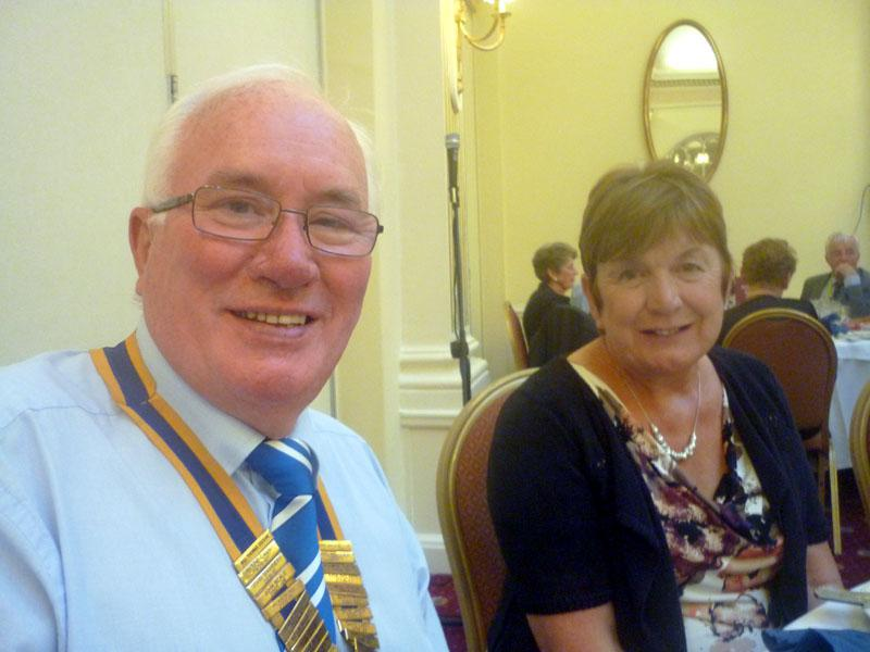 Handover Meeting - President Bill Thomas and Hilary