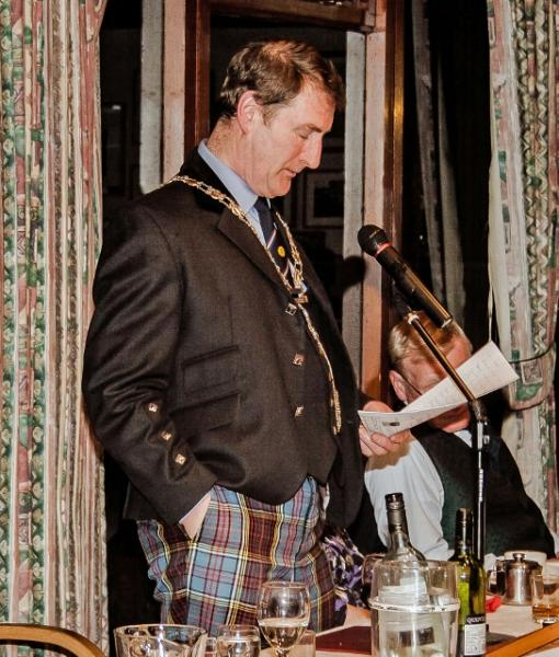Burns Night at the Rotary - President Dave Anderson