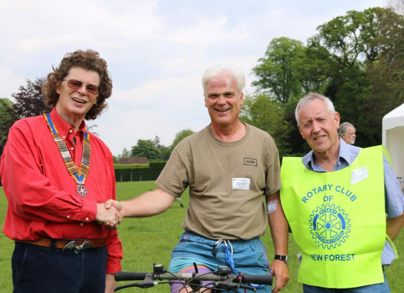 HORSE OR CYCLE OR WALK. OUR MAJOR EVENT OF THE YEAR. - President Edward, Desmond Swayne M.P and Director Dave