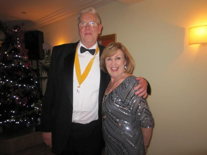 BLACKPOOL SOUTH ROTARY CLUB 2013  CHARTER DINNER.  - President Elect Ron Greenhough and President Anne.