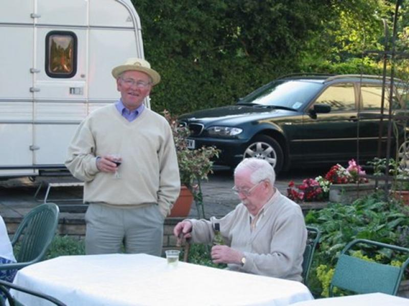 Pictures from the Past - President John still in hat 2002