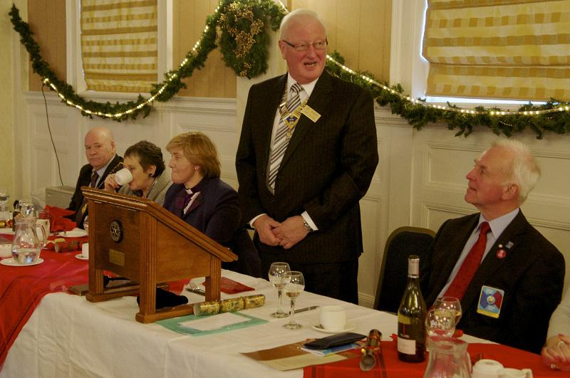 Diamond Jubilee Christmas Lunch     with Guest Speaker Right Reverend Lorna Hood  - President Ken Melville with top table guests