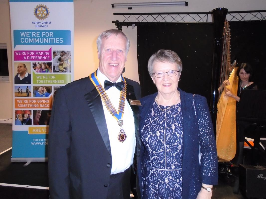 Nantwich Rotary 85th Charter Night - President Michael and Ruth