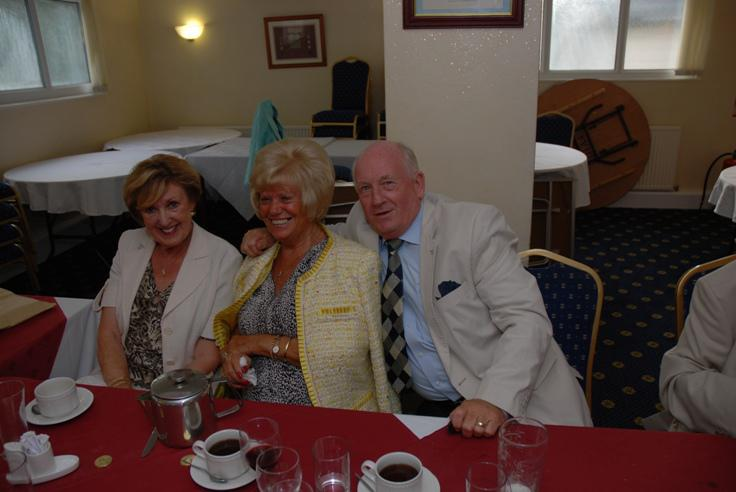 PRESIDENT RON GREENHOUGH TAKES OVER. - Anne, Maureen and Peter always enjoy a good night.