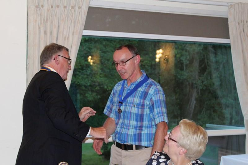 Ross Rotary Club Handover Dinner - 2nd VP Richard