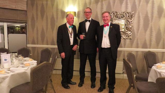 10th Anniversary Charter Dinner - President Martin Reed. Sir Tom Hughes-Hallet. DG Peter Dowse