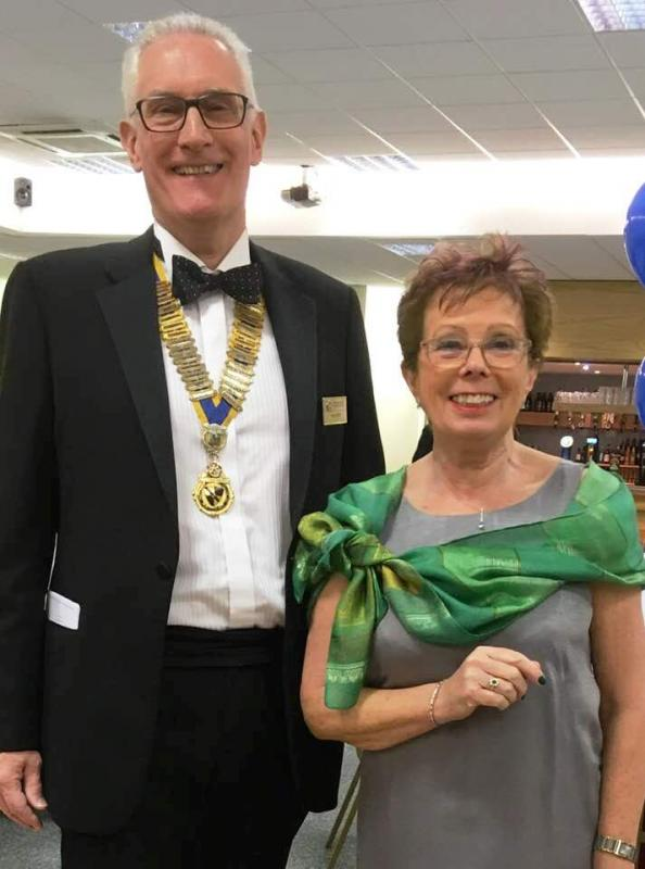 Nantwich Rotary Charter Night - President Tony and Clare