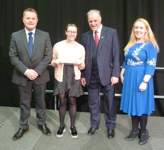 Service Above Self Awards at St. Mary's, Menston - Service Above Self GCSE Award winner Blythe McCaul