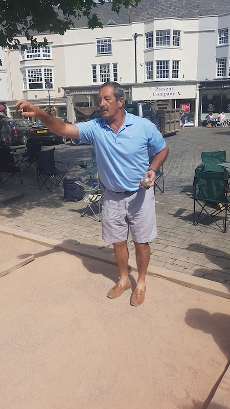 Wells Boules Tournament July 2018 - Professional at work