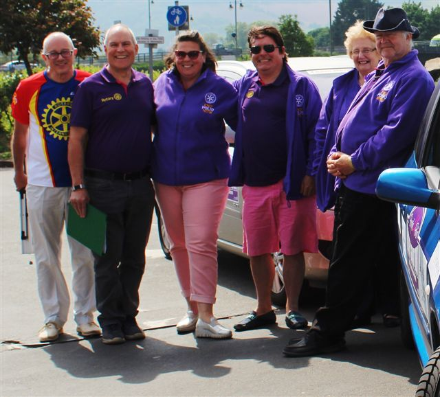 Purple4Polio Rotary Grand Tour visits Monmouth - Intrepid Rotarians