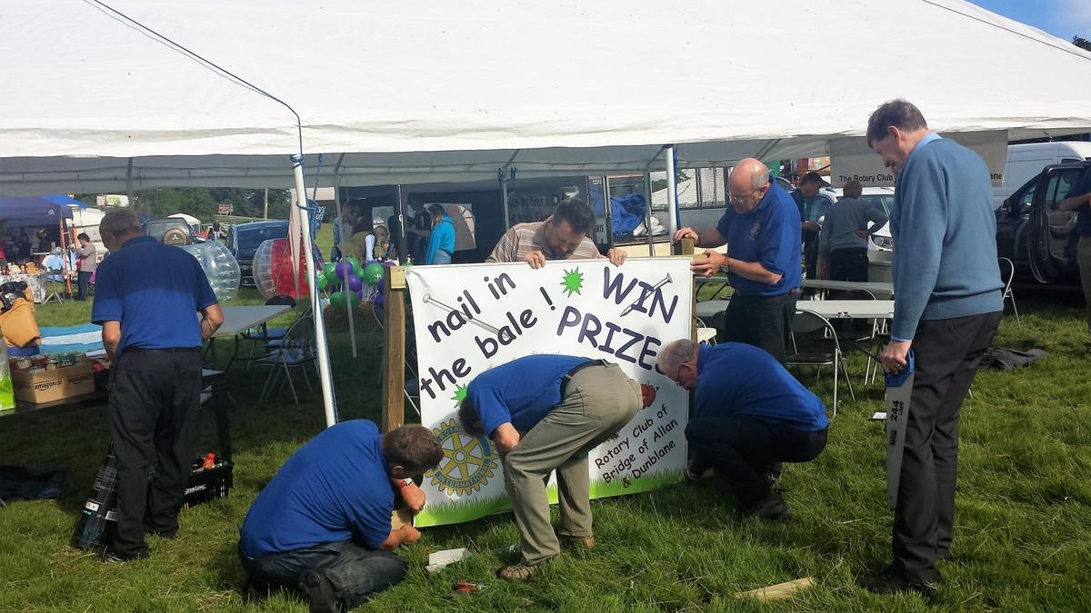 Nail in the Bale at Dunblane Show -