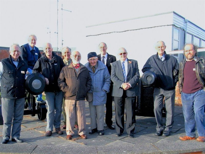 Millom Rotary Club's Visit to QinetiQ - Club members outside the QinetiQ gates (cameras are not permitted inside).