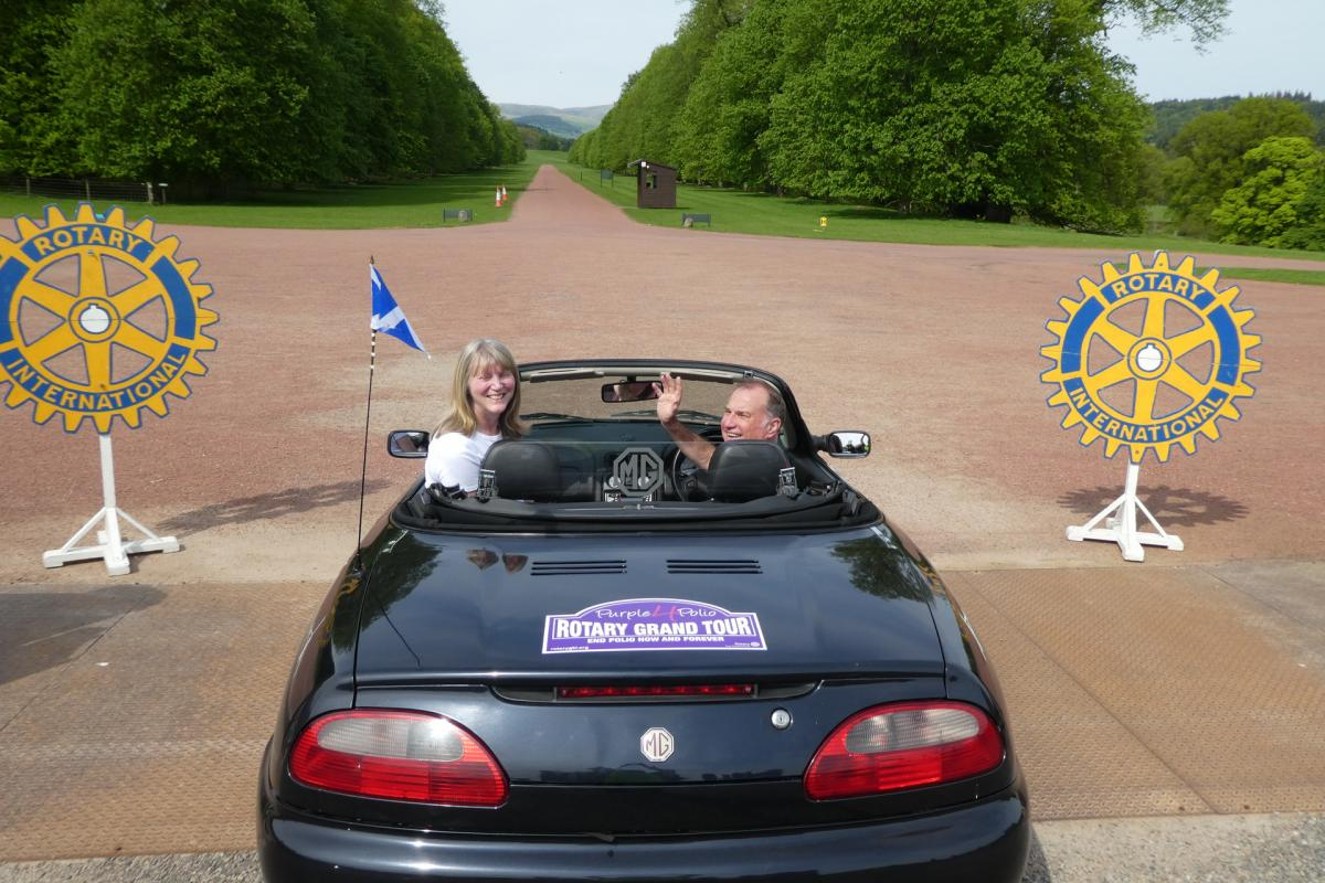 Rotary Purple4Polio Motor Tour of Britain. - RCKilrymont StAndrews-1070713