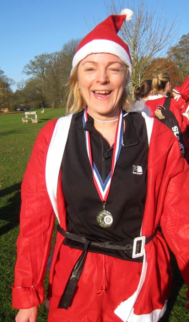 Rotary Fun Run in the park - 4th was Claire Bates who was the first lady across the finishing line