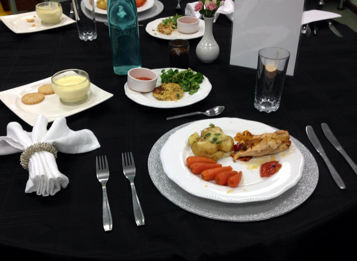 Young Chef Competition 2016 At The Market Bosworth School - Another well presented and tempting dinner