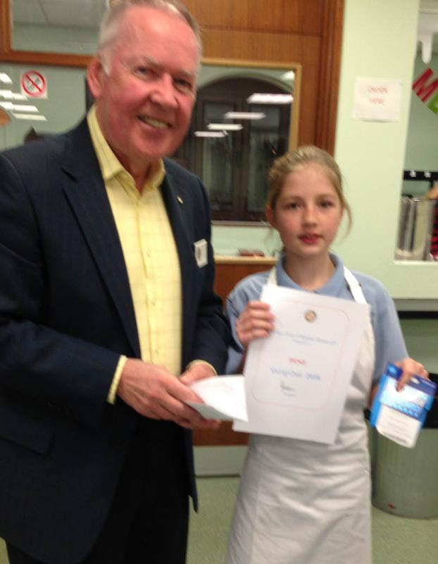 Rotary Young Chef Competition - Jessica sees her hard work rewarded