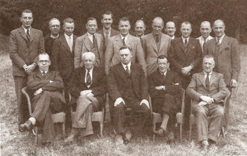 Rotary for 70 years in North Walsham - The first Rotarians - a Club photo in 1945