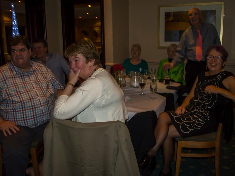Christmas Party Night - Looking on in amazement.