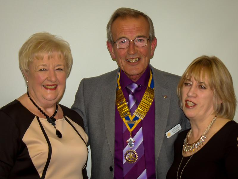 Speakers evening - Tony with Jean and Barbara.