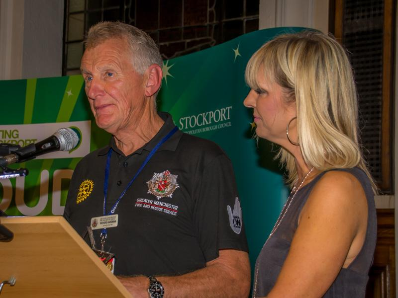 Proud of Stockport Awards 2015 - Richard saying a few words of acceptance