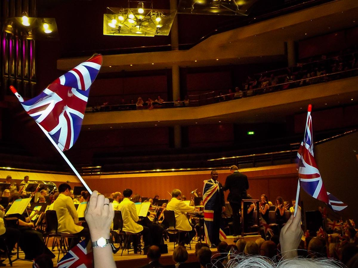Last Night of the Proms - Lots of flag waving