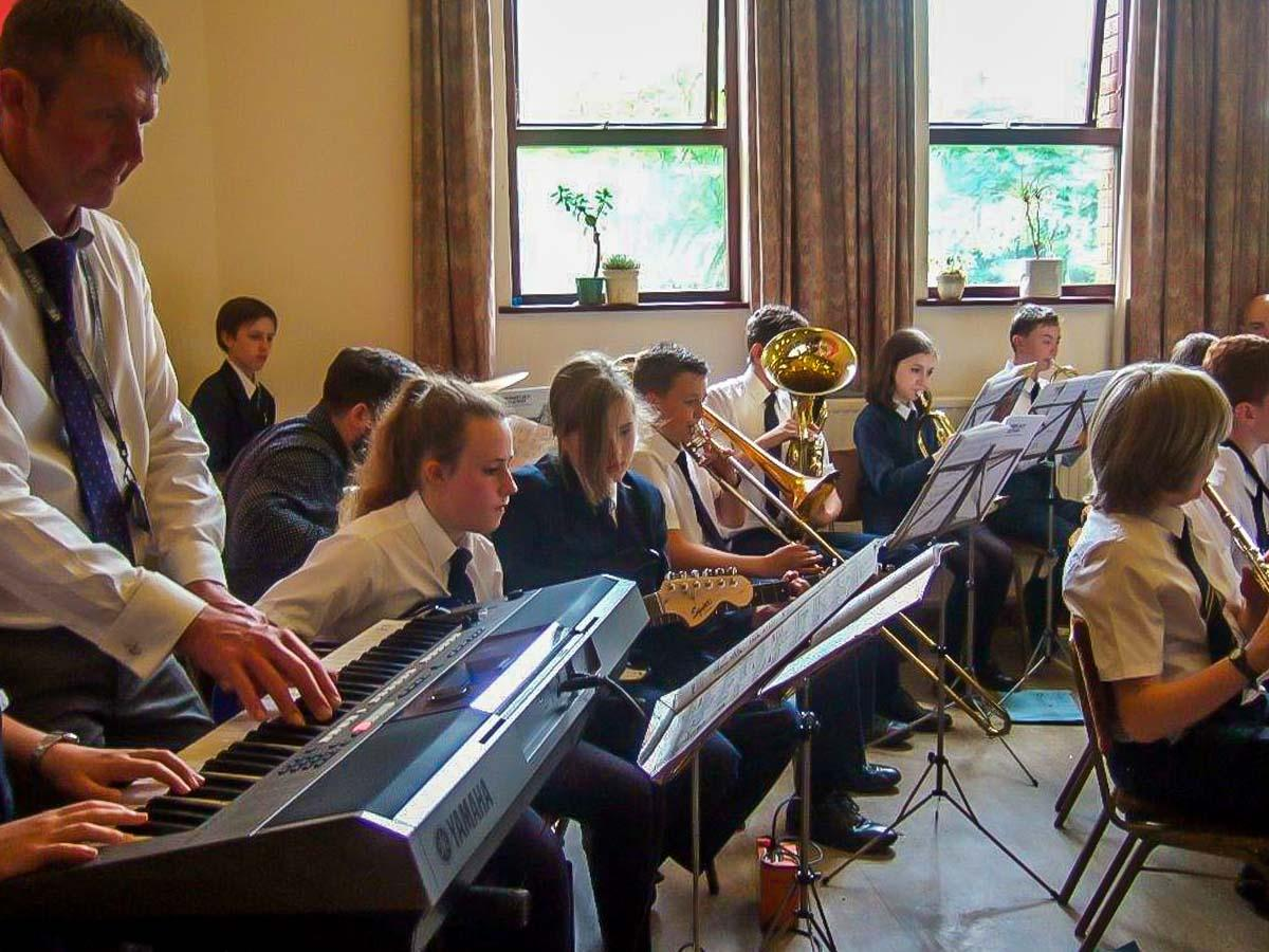 Dementia Cafe Street Party - The Priesnall School Jazz Band