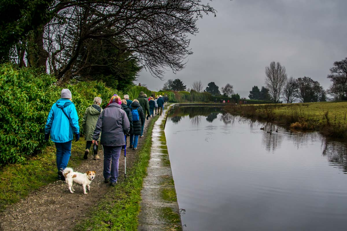 New Years Walk - Just as the drizzle started.