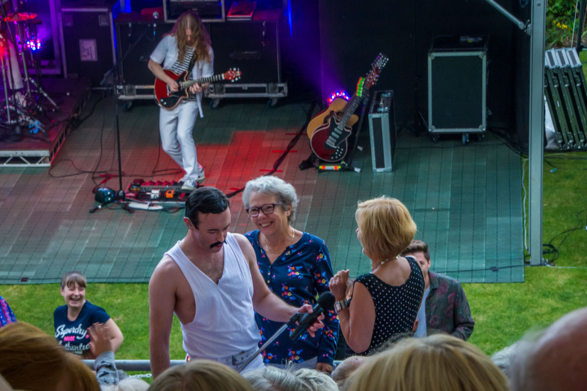 One Night of Queen at Gawsworth - Groupies heading for the stage