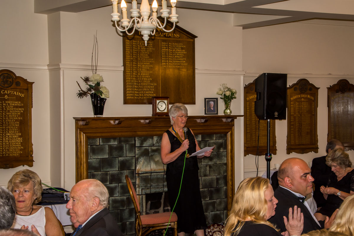President's Night - Linda says a few words.